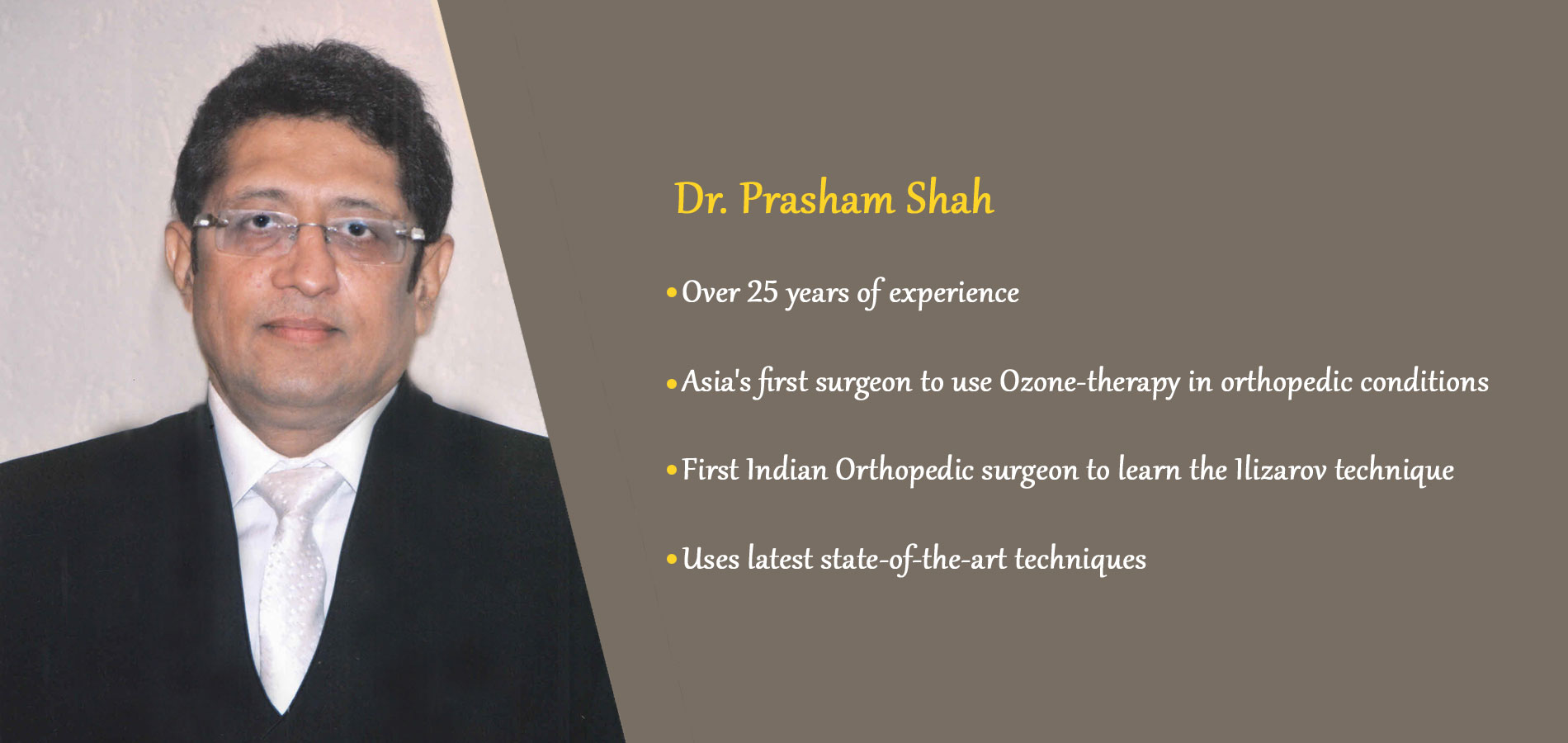 Orthopedic, Joint Replacement, Arthroscopic, Ilizarov